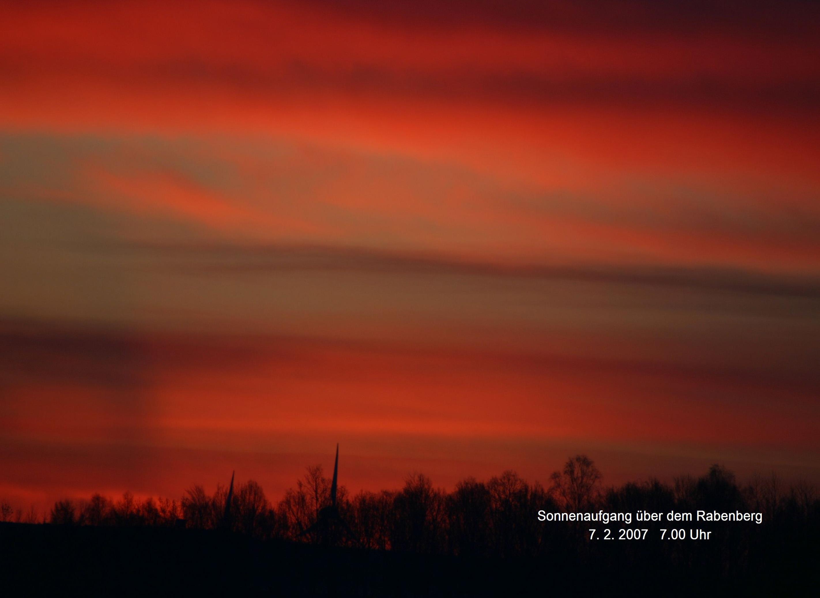 11.) Göritzhain Sonnenbaufgang über Rabenberg 07.02.2007  07.00 Uhr