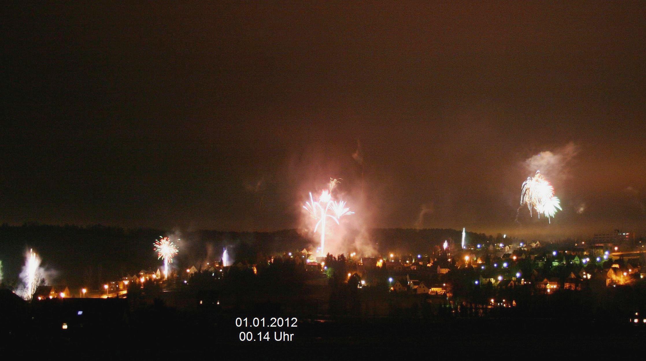 12.) Silvester 2012, Blick von Seitenhainer Str