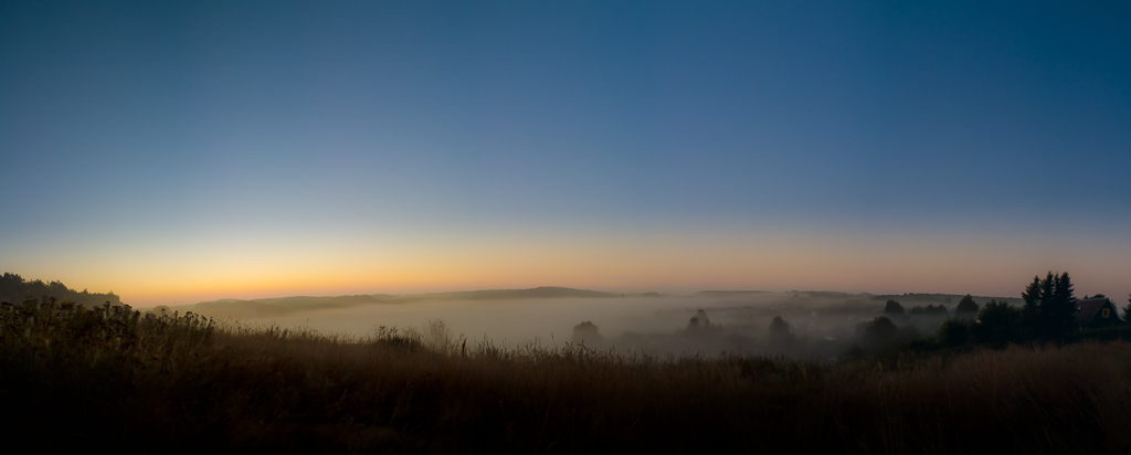 Göritzhain im Nebel